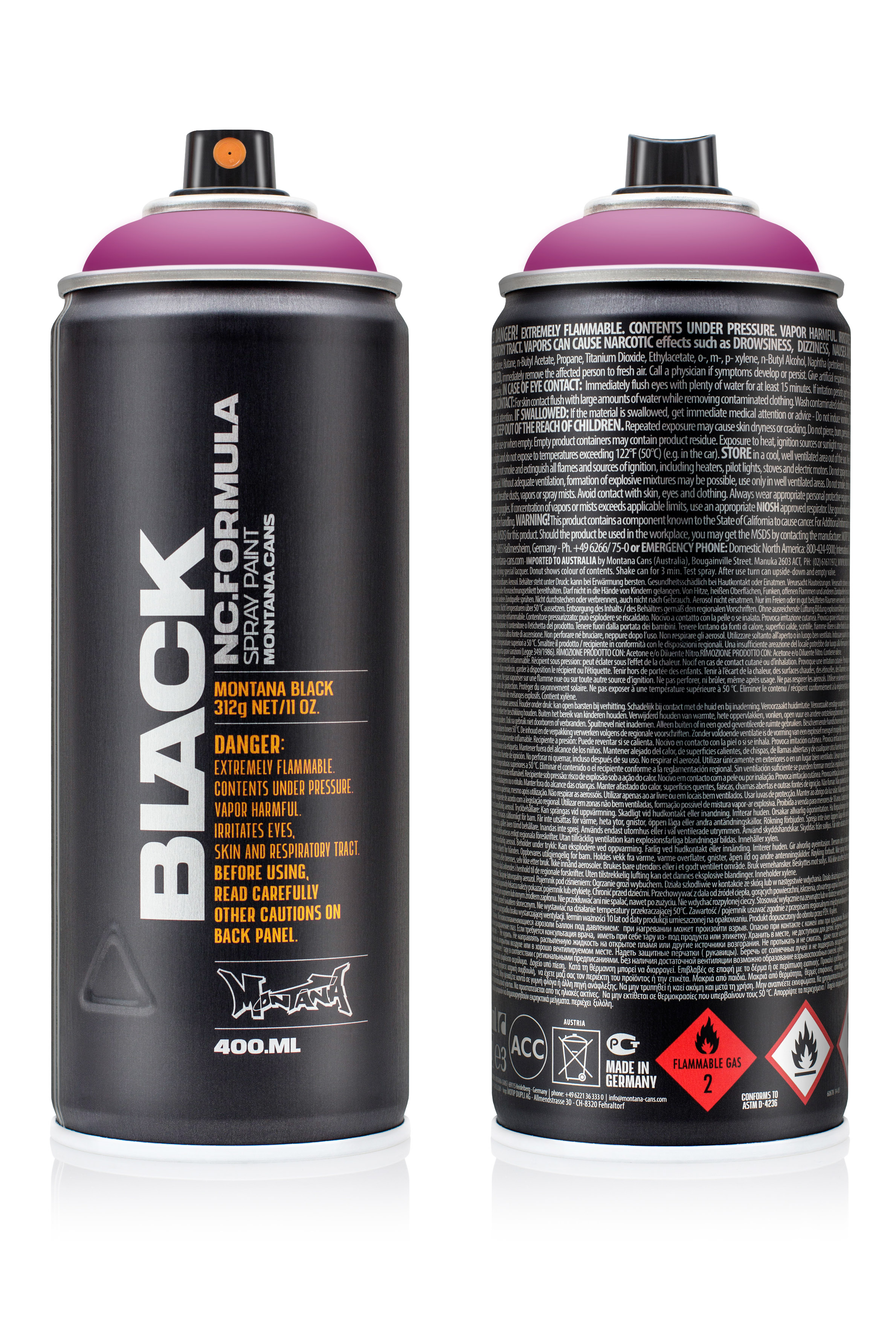 Аэрозольная краска Montana Black Purple rain 400 мл