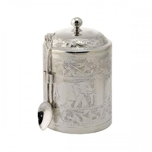Чай весовой черный Ти Тэнг в чайнице серебро 100 г