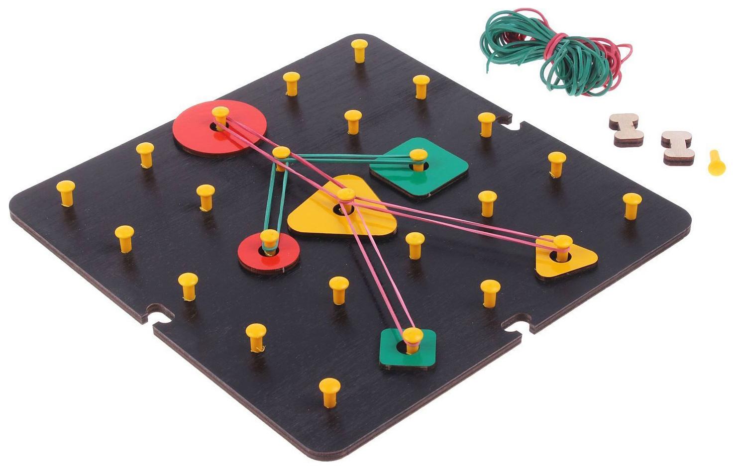 Купить Дидактическая игра Оксва Математический планшет Большой геометрик,