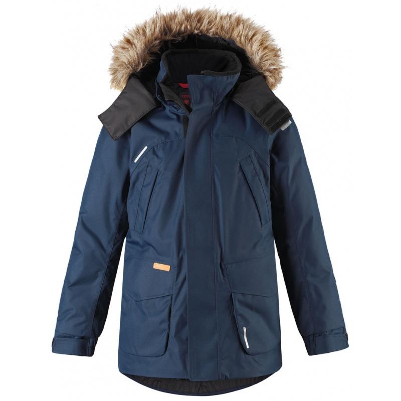 Купить Куртка Serkku REIMA темно-синий р.140, Детские зимние куртки