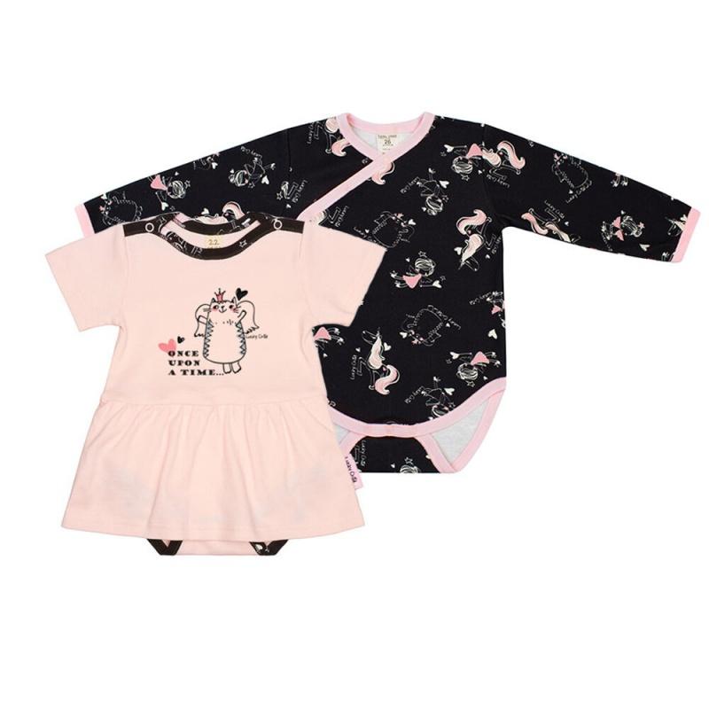 Купить Комплект боди 2 шт Lucky Child Розовый р.86, Боди и песочники для малышей