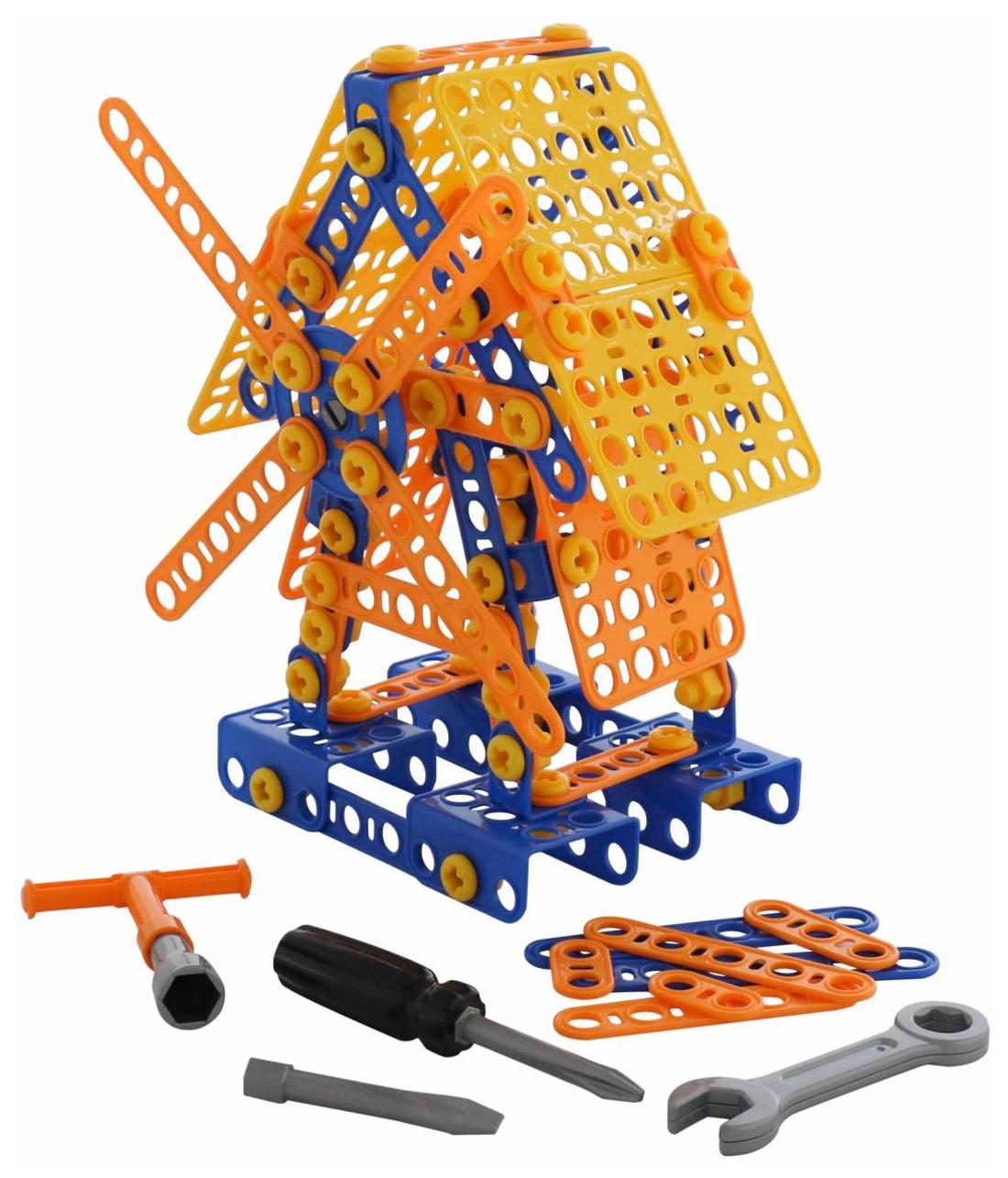 Купить Игрушки, Конструктор Полесье Изобретатель - Мельница №2 195 деталей в пакете, Конструкторы пластмассовые