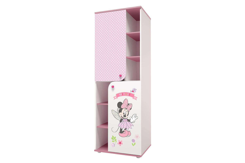 Купить Детский шкаф-пенал Polini Kids Disney Baby «Минни Маус Фея» Белый/Розовый, Шкафы в детскую комнату