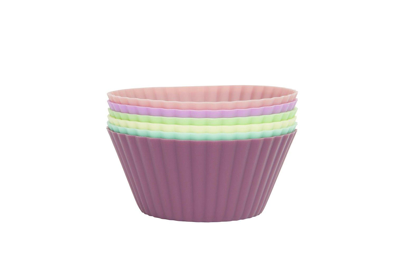 Набор форм для кексов Fissman 7800 Голубой, зеленый, желтый, розовый
