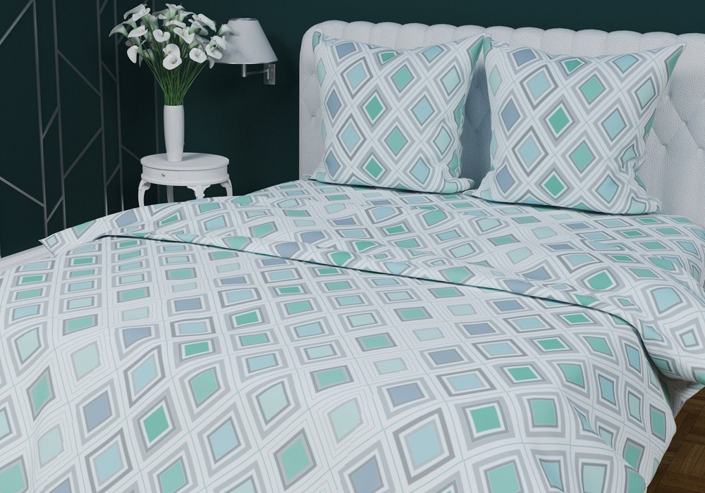 Комплект постельного белья Текстильная лавка Ромбы двуспальный