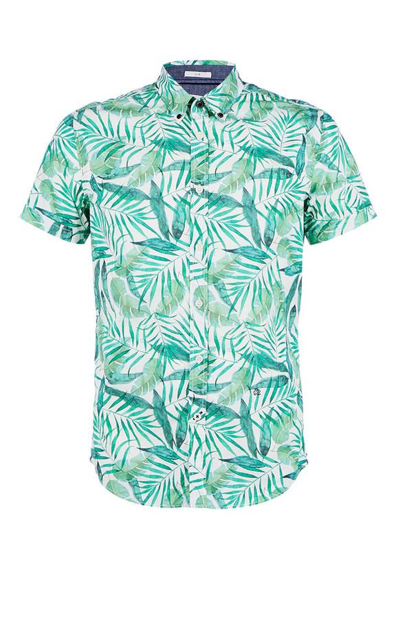Рубашка Мужская Pepe Jeans зеленая 48