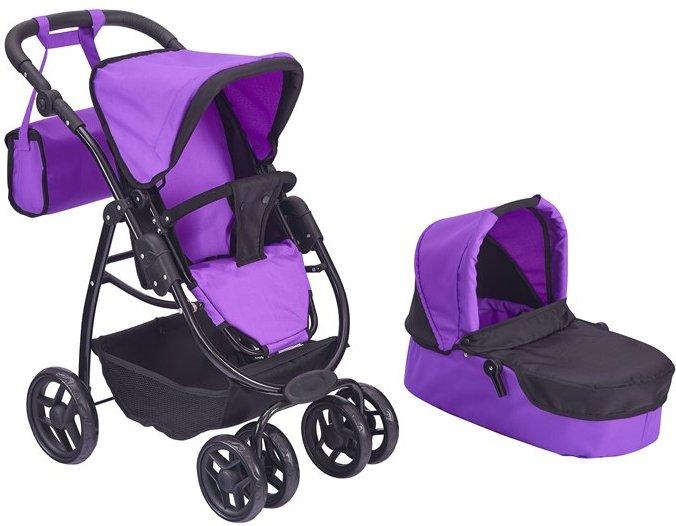 Коляска для куклы 2 в 1 Buggy Boom Amidea 9000 Фиолетовая