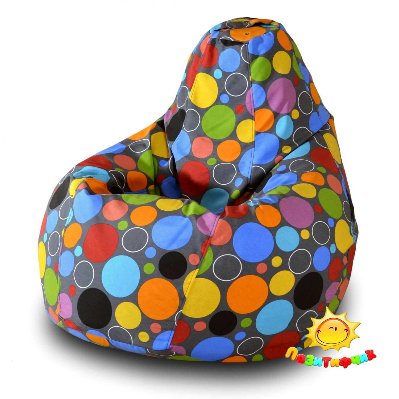 Кресло-мешок Pazitif Груша Пазитифчик Боро 02, размер L, жаккард, разноцветный фото
