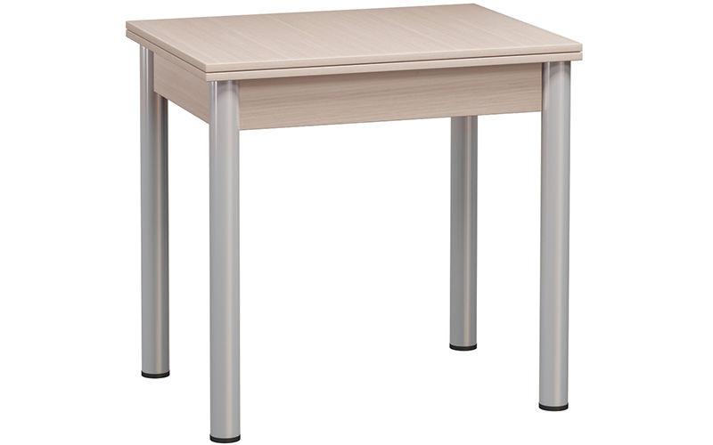 Кухонный стол Divan.ru 78х80х60 см, бежевый/серебристый