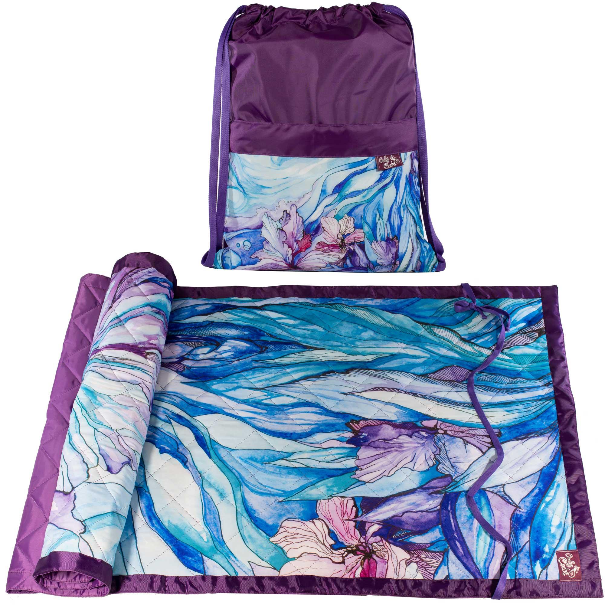 Пляжное покрывало OnlyCute фиолетовый, синий