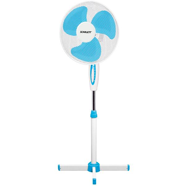 Вентилятор напольный Scarlett SC SF111B04 white/blue