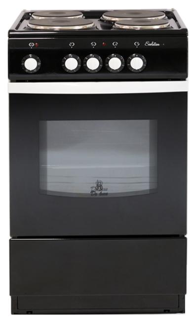 Электрическая плита De luxe 5004,12 э черный