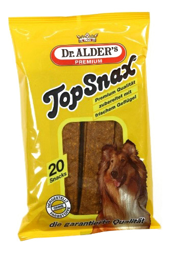 Лакомство для собак Dr, Alder\'s, Top Snax, жевательные пластинки с птицей, 200г