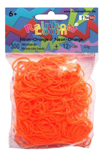 Плетение из резинок Rainbow Loom Neon Orange