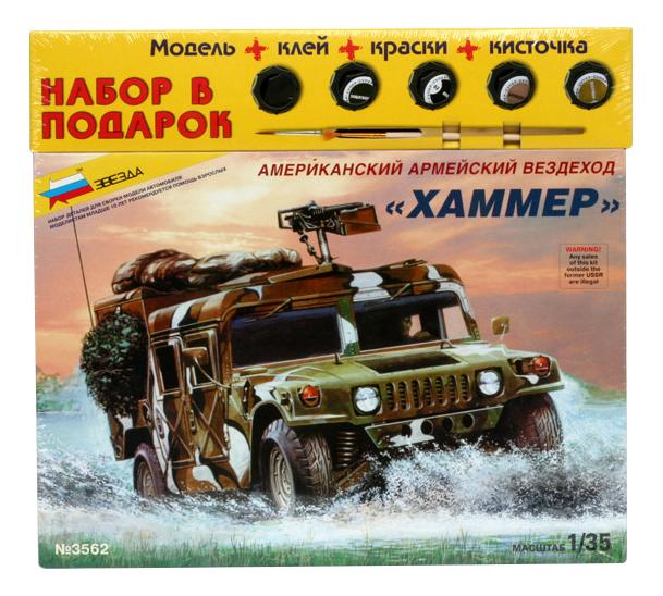 Модель для сборки Zvezda Американский армейский вездеход хаммер фото