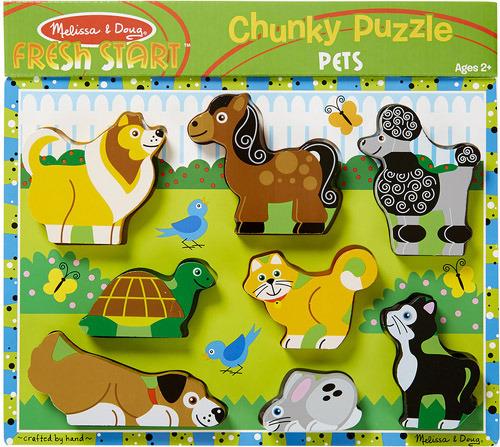 Купить Пазл для малышей MELISSA&DOUG Мои первые пазлы: Домашние животные (772137249), Melissa & Doug, Игровые наборы