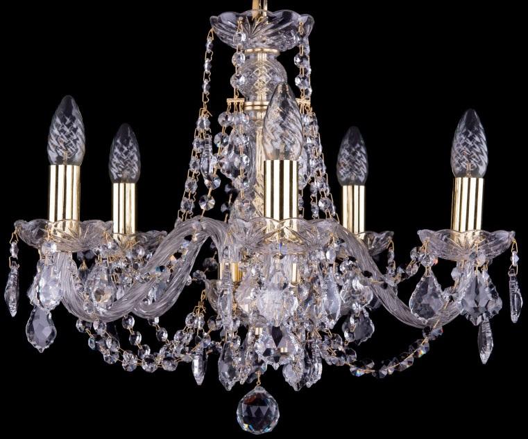 Люстра подвесная Bohemia Ivele Crystal 1406/5/160/G/Balls фото