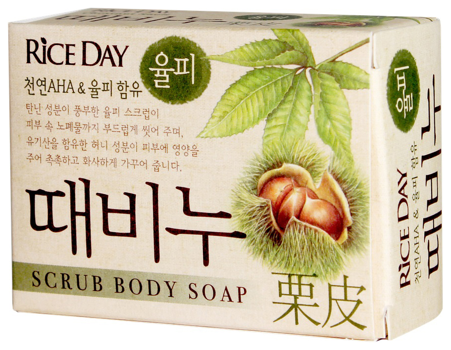 Купить Косметическое мыло CJ Lion Скраб-мыло Riceday земляной орех 100 г