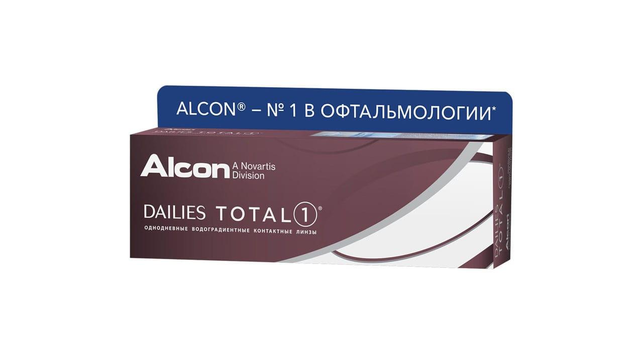Контактные линзы ALCON Dailies Total 1 30 линз -1,75 фото