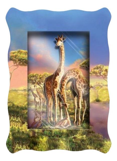Аппликация из картона Vizzle Объемная картинка mini - Семья жирафов