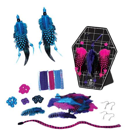 Купить Набор для создания бижутрии из перьев, Набор для создания бижутрии из перьевFashion Angels Monster High,