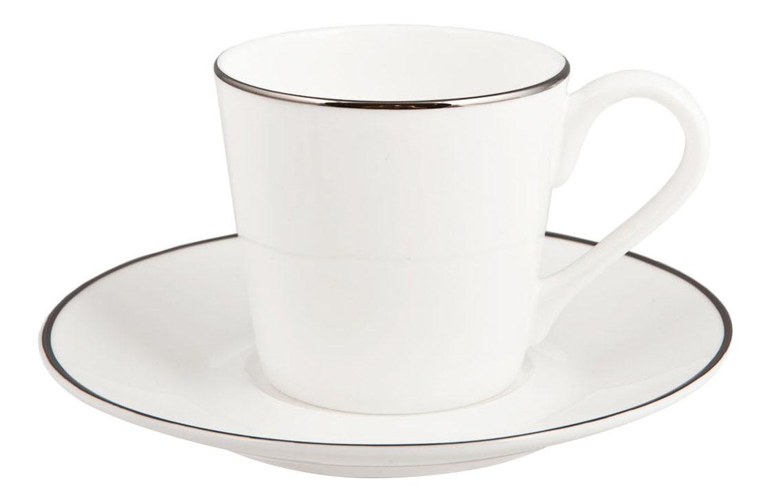 Кофейный сервиз Kuchenland Аврора Платинум 4 предмета