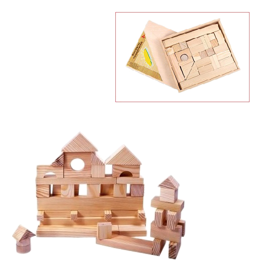 Купить Конструктор деревянный PAREMO 35 деталей неокрашенный, Деревянные конструкторы