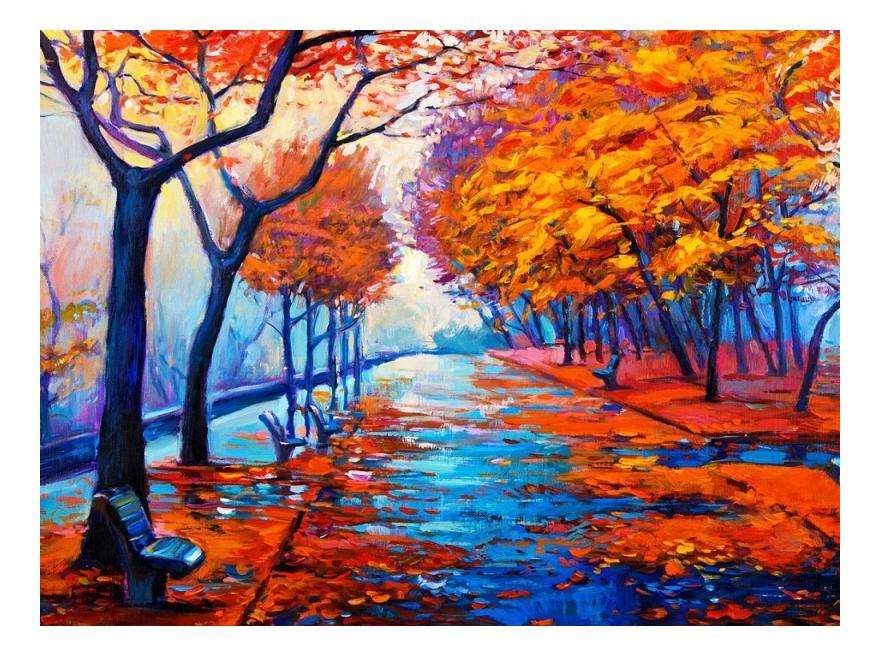 Раскраска по номерам Осенняя аллея Color kit KS036 фото