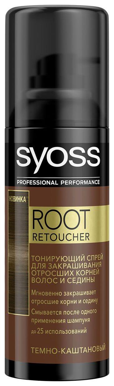 Тонирующий спрей Syoss Root Retoucher Темно каштановый