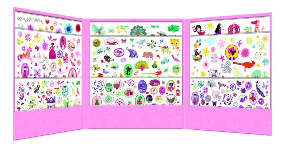 Наклейка декоративная для детской комнаты Djeco для девочек