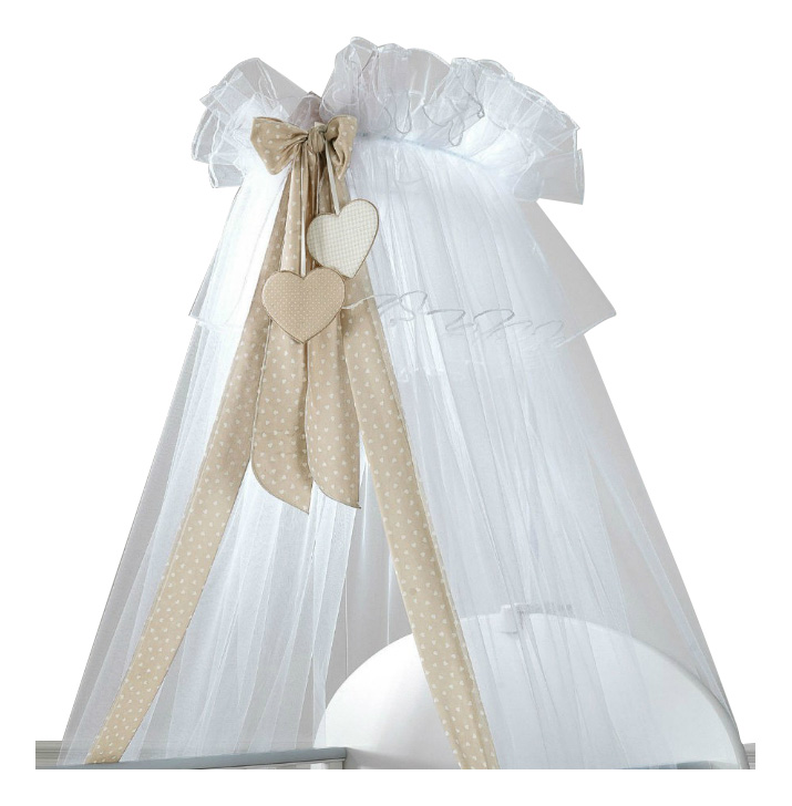 Балдахин для детской кроватки Sogno белый, серо-бежевый Baby Expert
