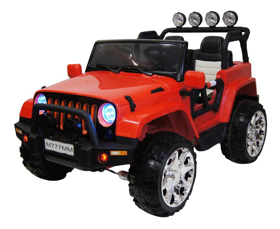 Электромобиль Jeep оранжевый RIVERTOYS