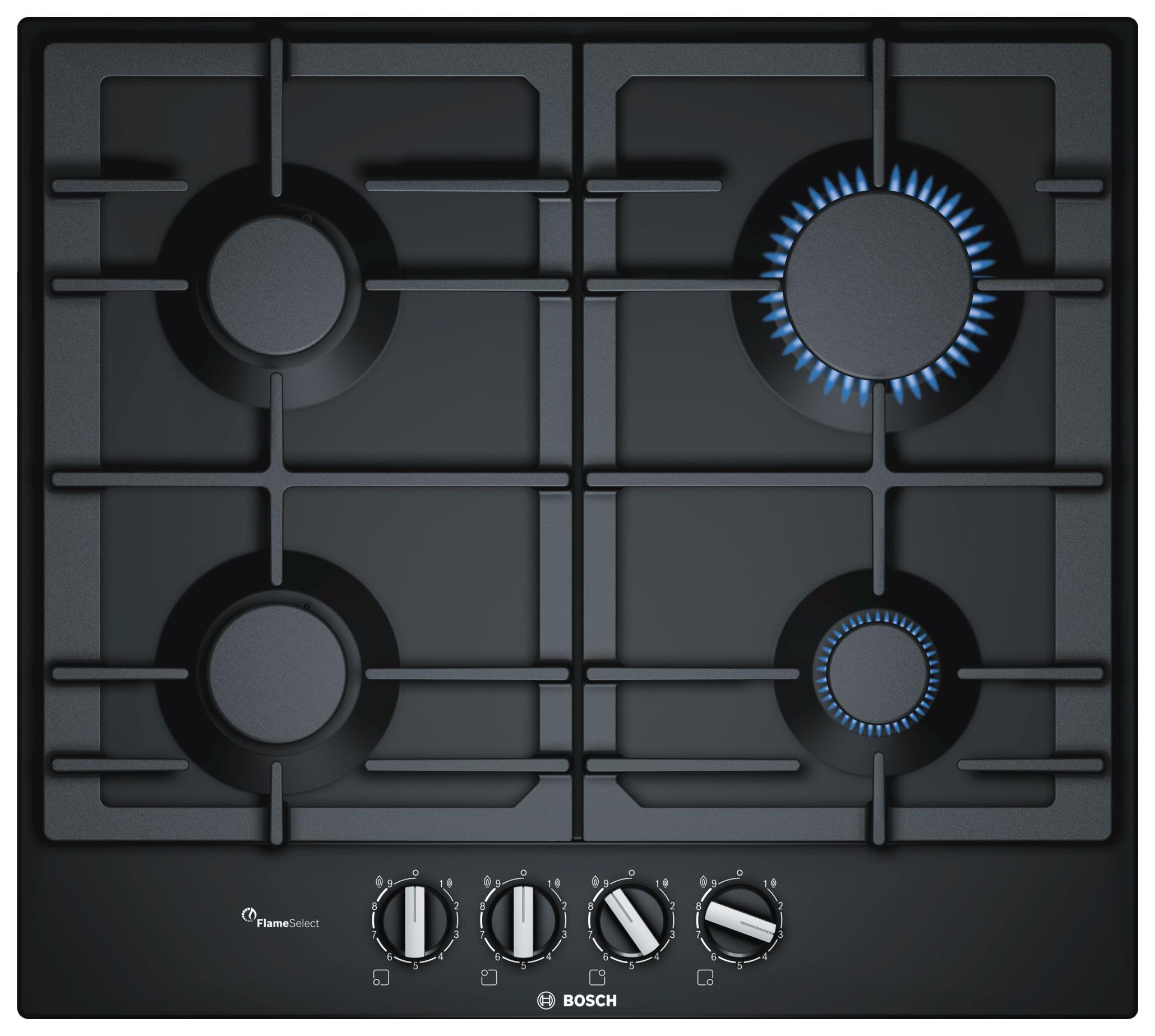 Встраиваемая варочная панель газовая Bosch PCP6A6B90 Black