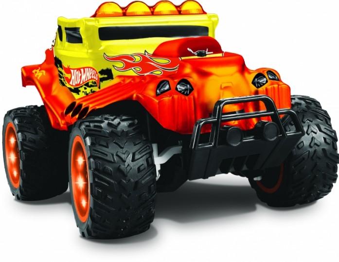 Купить Радиоуправляемая машинка 1 TOY Hot Wheels Багги Бигвил со светом красная, Радиоуправляемые машинки