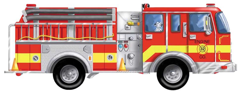 Пазл Melissa and Doug Напольный пазл Пожарная машина 24 элемента, Melissa & Doug, Пазлы  - купить со скидкой