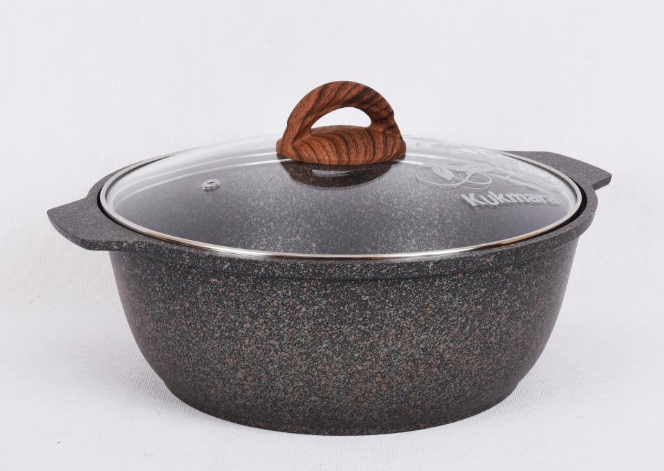 Кастрюля-жаровня антипригарная литая 4,0л Granit ultra original
