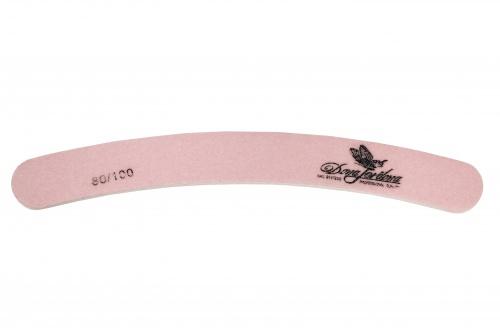 Купить Пилка для искусственных ногтей Dona Jerdona 80/100 бумеранг розовая