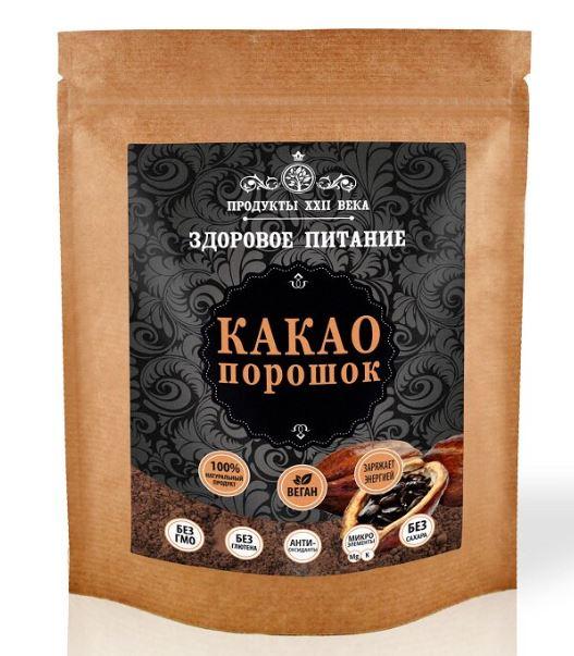Какао-порошок Продукты XXII века натуральный 200 г фото