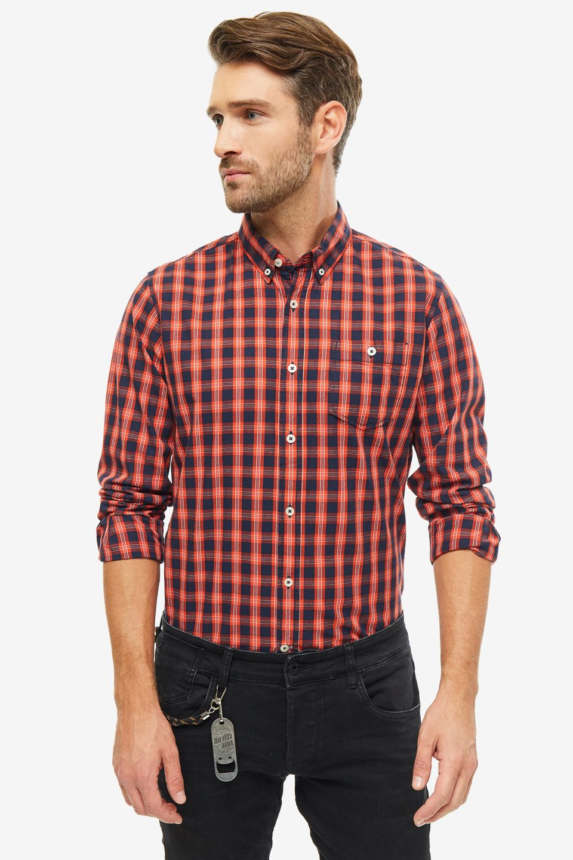 Рубашка мужская TOM TAILOR 1013888-19805 красная XS