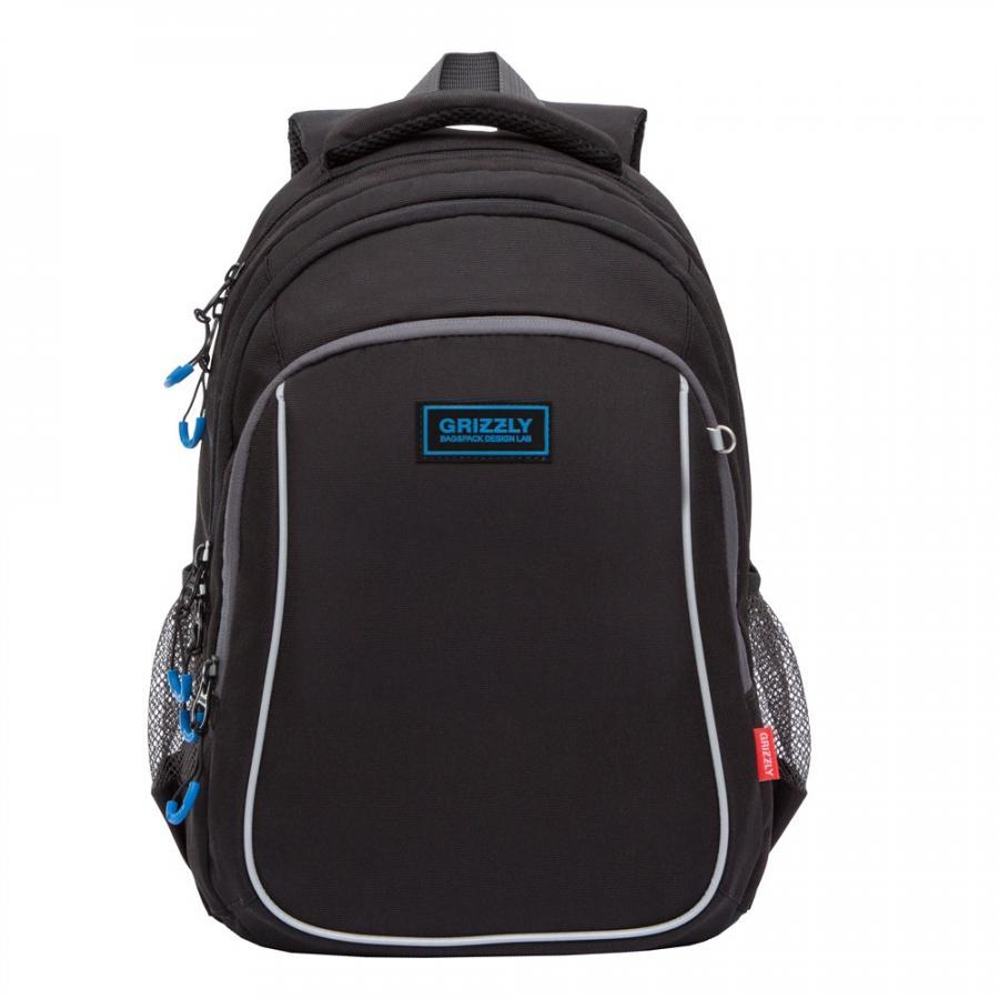 Купить Школьный рюкзак для мальчика Grizzly черный, Школьные рюкзаки и ранцы