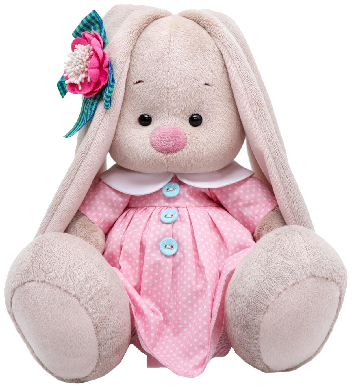 Мягкая игрушка BUDI BASA Зайка Ми Розовый крем, 18 см