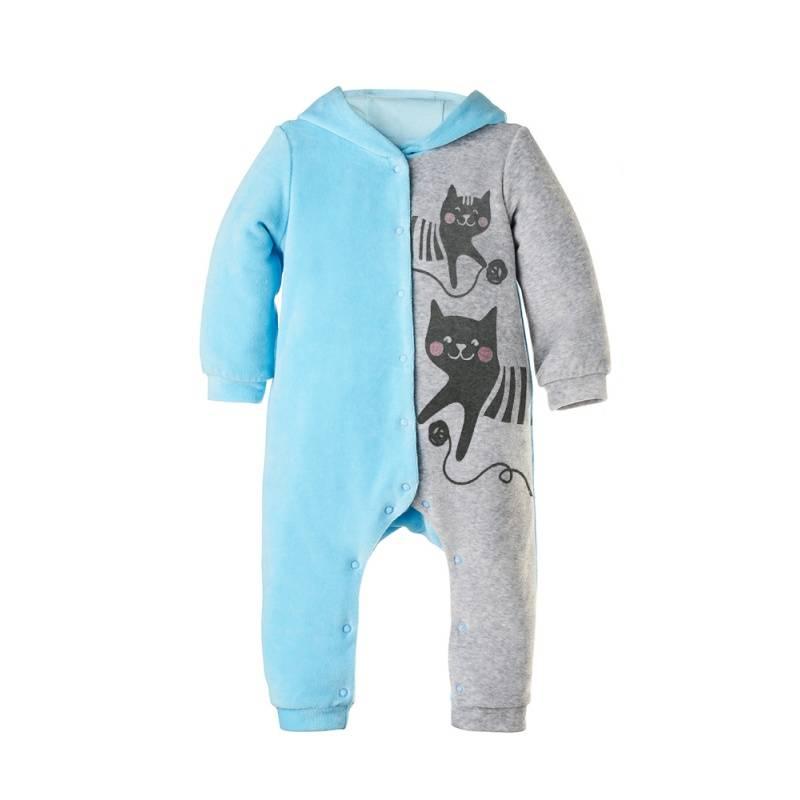 Купить Комбинезон Goldy, цв. голубой, 68 р-р, Трикотажные комбинезоны для новорожденных