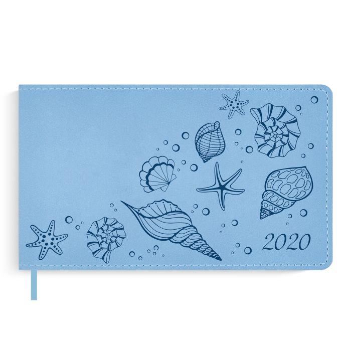 Еженедельник датированный Феникс+ 2020 Бейбискин голубой 150 х 87 мм арт. 50489/20