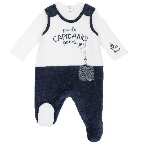 Купить 9077988, Комплект (боди+ползунки) Chicco для мальчиков р.56 цв.темно-синий, Детские костюмы