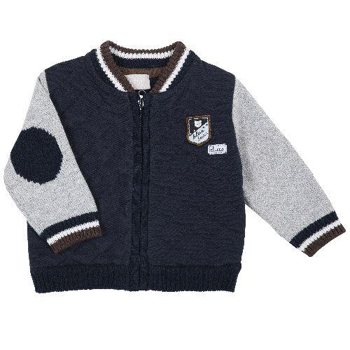 Купить 9096928, Бомбер Chicco для мальчиков р.80 цв.темно-синий, Кофточки, футболки для новорожденных