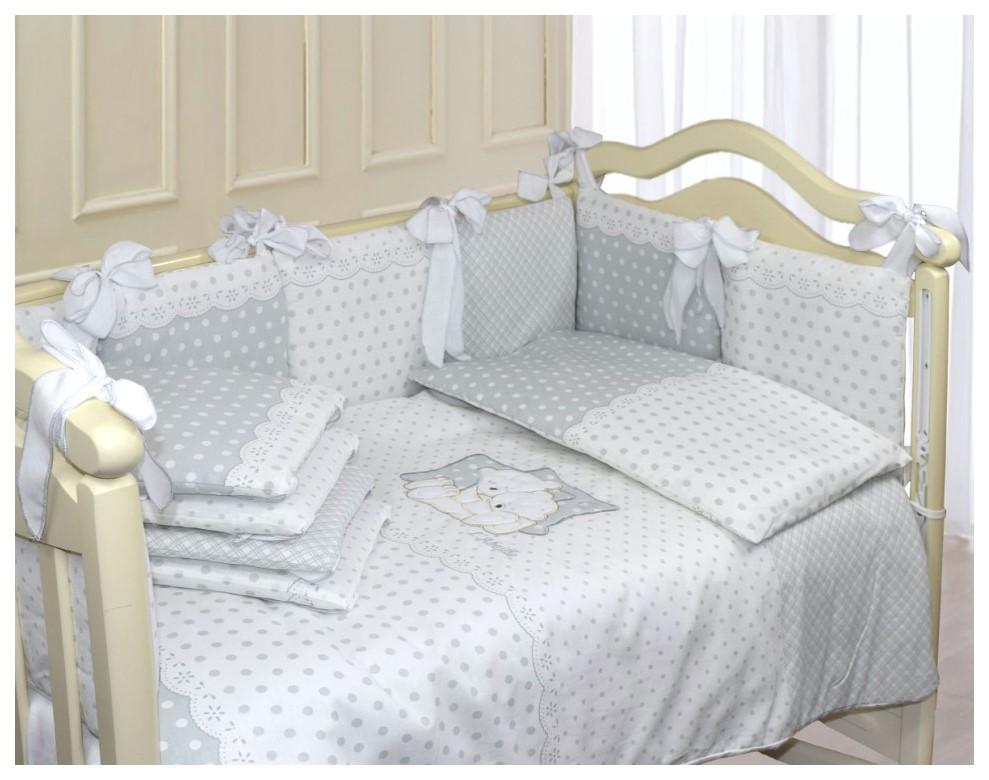 Купить Комплект в кроватку Dolce (6 предметов), L'Abeille, Комплекты детского постельного белья