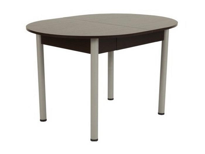 Овальный кухонный стол Мебельсон Квартет (стол обеденный) Венге