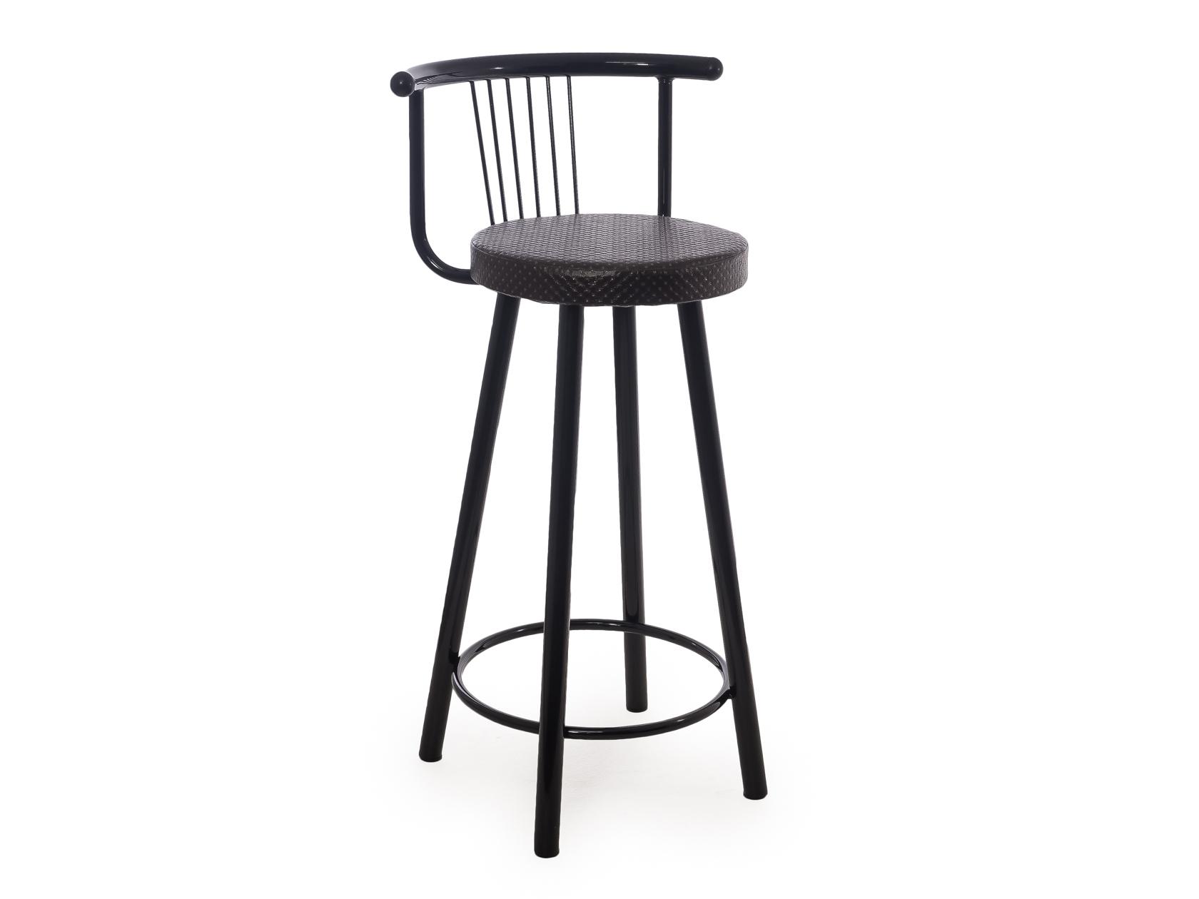 Мягкий барный стул для кухни Амис Барный Стиль Бронза блеск фото