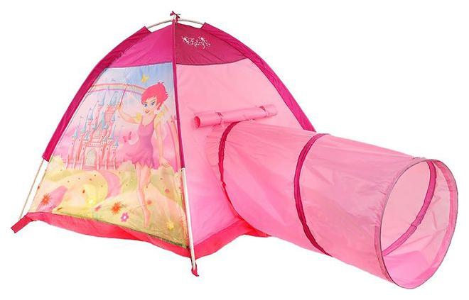 Палатка игровая Наша игрушка c туннелем Замок Феи