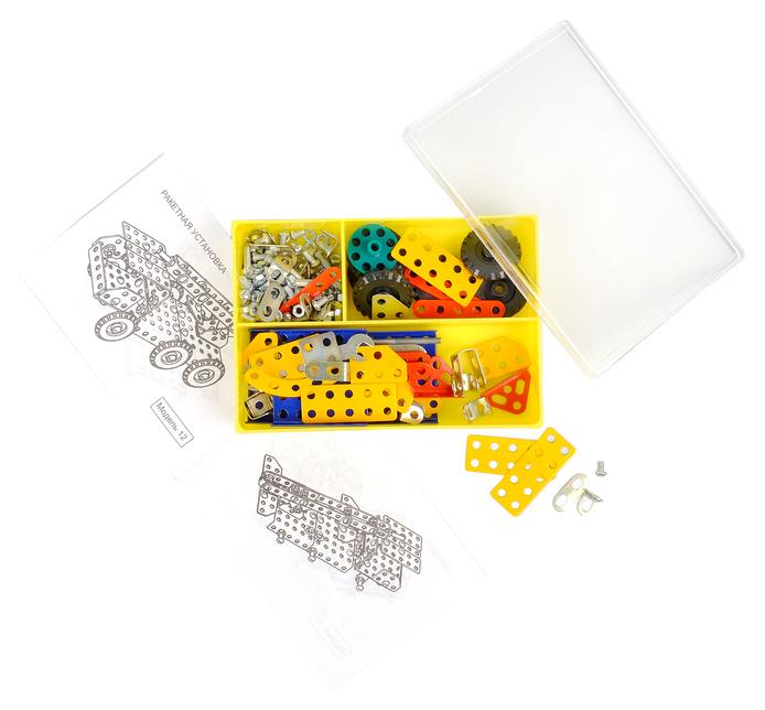 Купить Металлический конструктор Техник № 2 , 195 деталей, Проф-Пресс, Металлические конструкторы